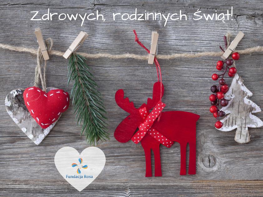 Zdrowia i szczęścia na Święta i przez nowy rok!