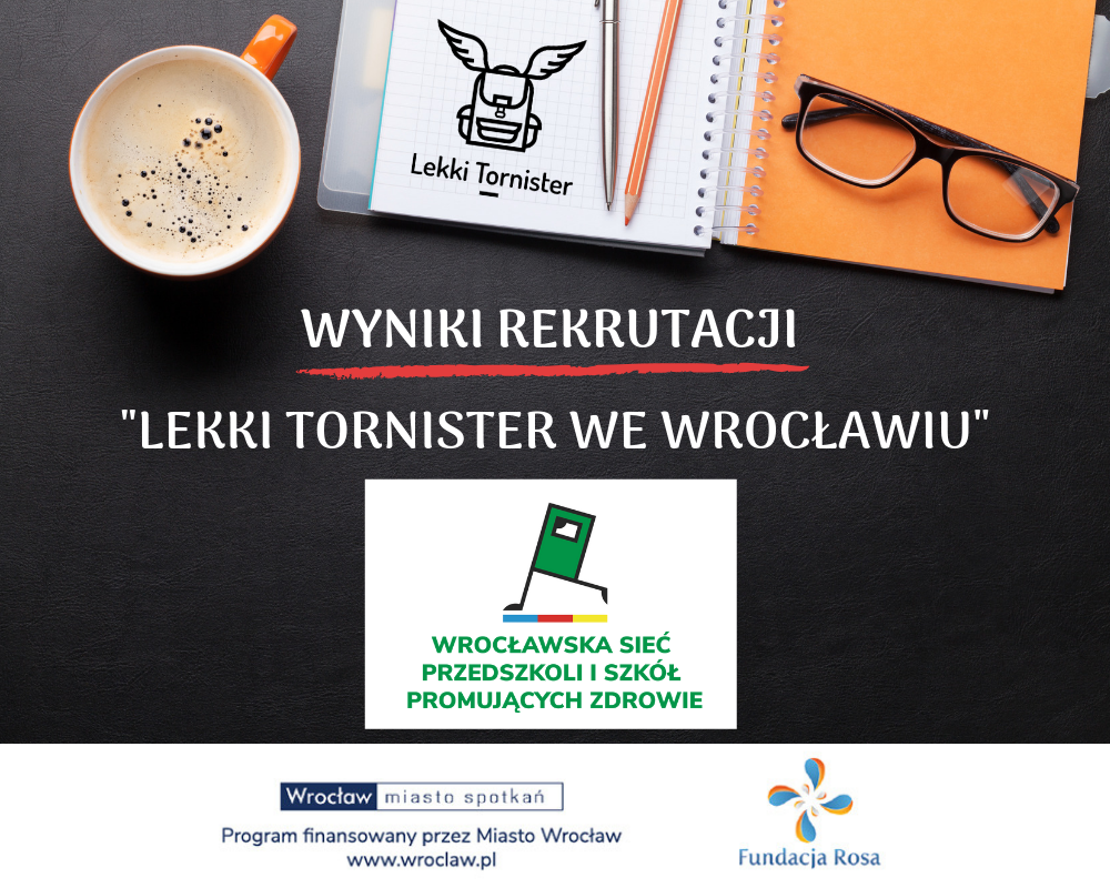 """Lista zakwalifikowanych placówek do projektu """"Lekki Tornister we Wrocławiu"""""""